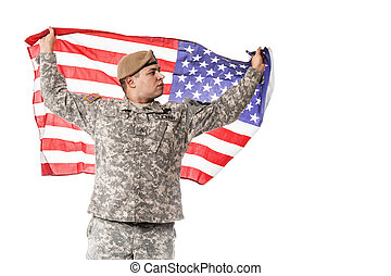 obieżyświat, bandera, amerykanka, armia nas