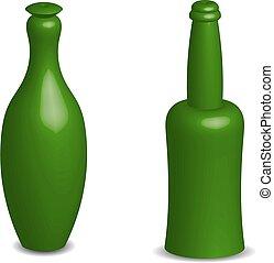 obiekt, butelki