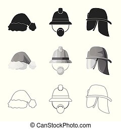obiekt, stock., korona, odizolowany, zbiór, symbol., wektor, kłobuk, dodatkowy, ikona