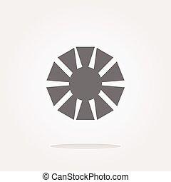 obiettivo, macchina fotografica, (symbol), vettore, icona