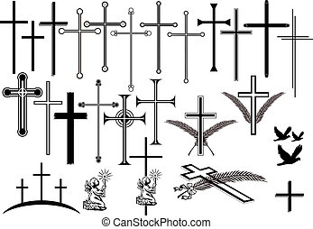 Obituary Symbols - Crosses in different designs and other...