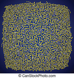 objazd, abstrakcyjny, wektor, deska, tło, elektronowy