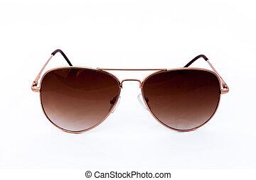 Object elegant sunglasses isolated on the white