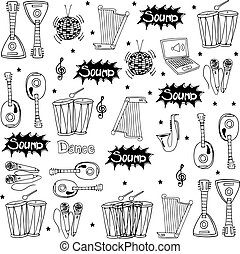 Object music doodles set