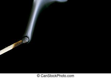 match with smoke