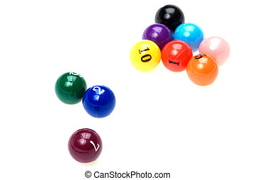 billiard balls close up