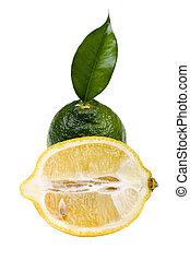 lime with lemon