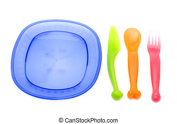 Set of plastic ware