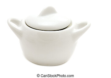 White sugar bowl