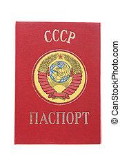 passport - object on white - Russia passport macro