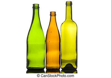 Three empty bottle