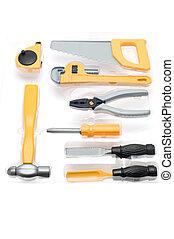 tool kit for child - object on white - tool kit for child