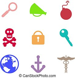 object shapes - collection of everyday object icons isolated...