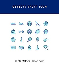 object sport filled outline icon set