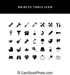 object tool glyph style icon set