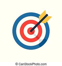 objectif, cible, défi, icône