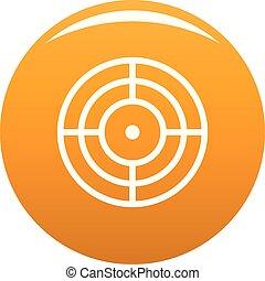 Objective of target icon vector orange