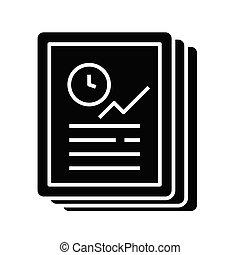 Objective task black icon, concept illustration, vector flat symbol, glyph sign.