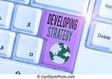 objectives., テキスト, ゴール, 手書き, 計画, セット, ゲーム, 特定, 意味, 成長, strategy., 概念