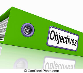 Objectives File Means Correspondence Business And Intent