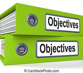 Objectives Folders Mean Business Goals And Targets -...