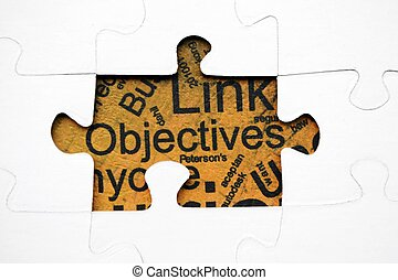 Objectives puzzle concept