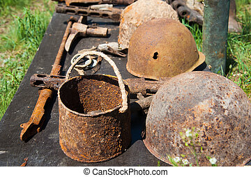 Objects found during excavations on the battlefield