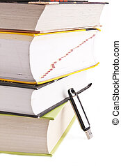 objekt, blanco, papel, libro, lectura