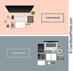 objekt, workplace, isolerat