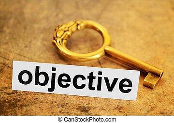 objektiv, begriff