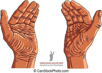 objet, africaine, quelques-uns, endroit, mains, petit, ...