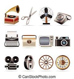 objet bureau, business, retro