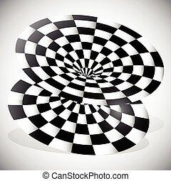 objet, surface, checkered, résumé