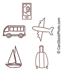 objet, voyager, collection