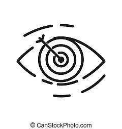 objetivo, desenho, alvo, ilustração