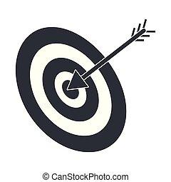objetivo que dispara, caricatura