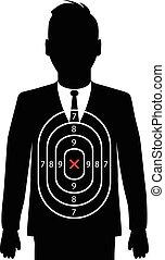objetivo que dispara, hombre de negocios