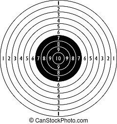 objetivo que dispara, icono