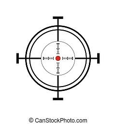 objetivo que dispara, ilustración, icono
