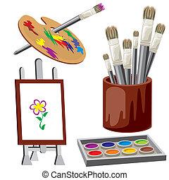 objeto, para, pintura