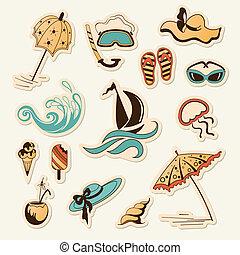 objeto, praia, cobrança, mar