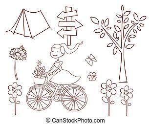 objeto, primavera, cobrança, doodle