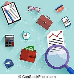objetos, concepto, empresa / negocio, rutina