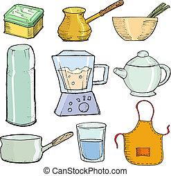 objetos, cozinha