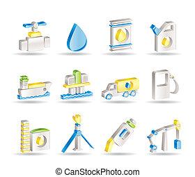 objetos, industria, gasolina, aceite