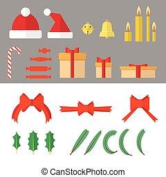 objetos, jogo, Natal
