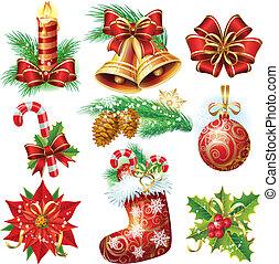 objetos, navidad