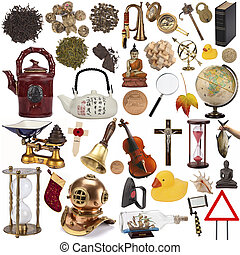 objetos, para, recorte, -, isolado