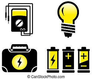 objets, électrique, lustré