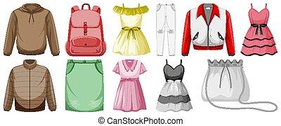 objets, ensemble, déguisement